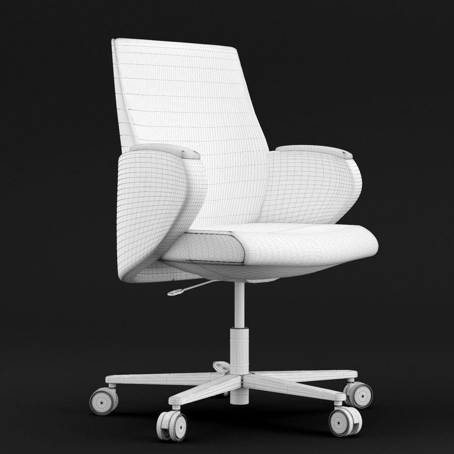 Nowoczesne skórzane krzesło biurowe 2 royalty-free 3d model - Preview no. 2