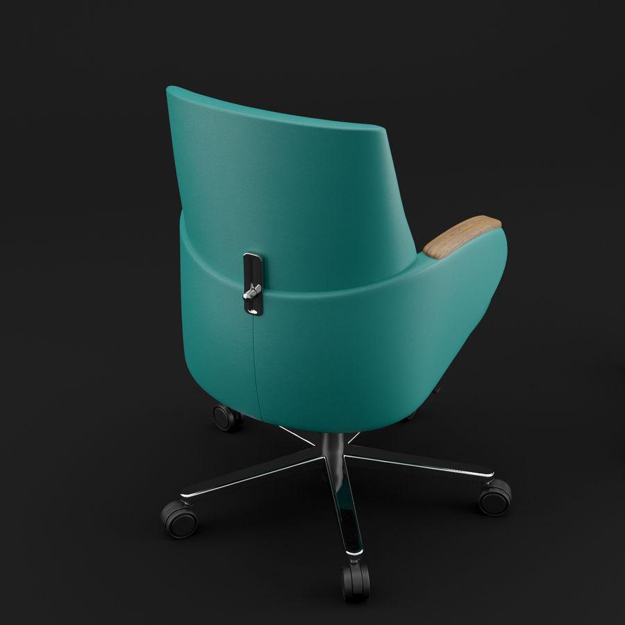 Nowoczesne skórzane krzesło biurowe 2 royalty-free 3d model - Preview no. 11