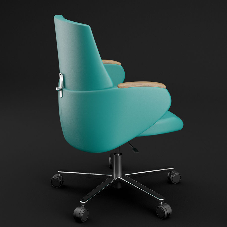 Nowoczesne skórzane krzesło biurowe 2 royalty-free 3d model - Preview no. 13