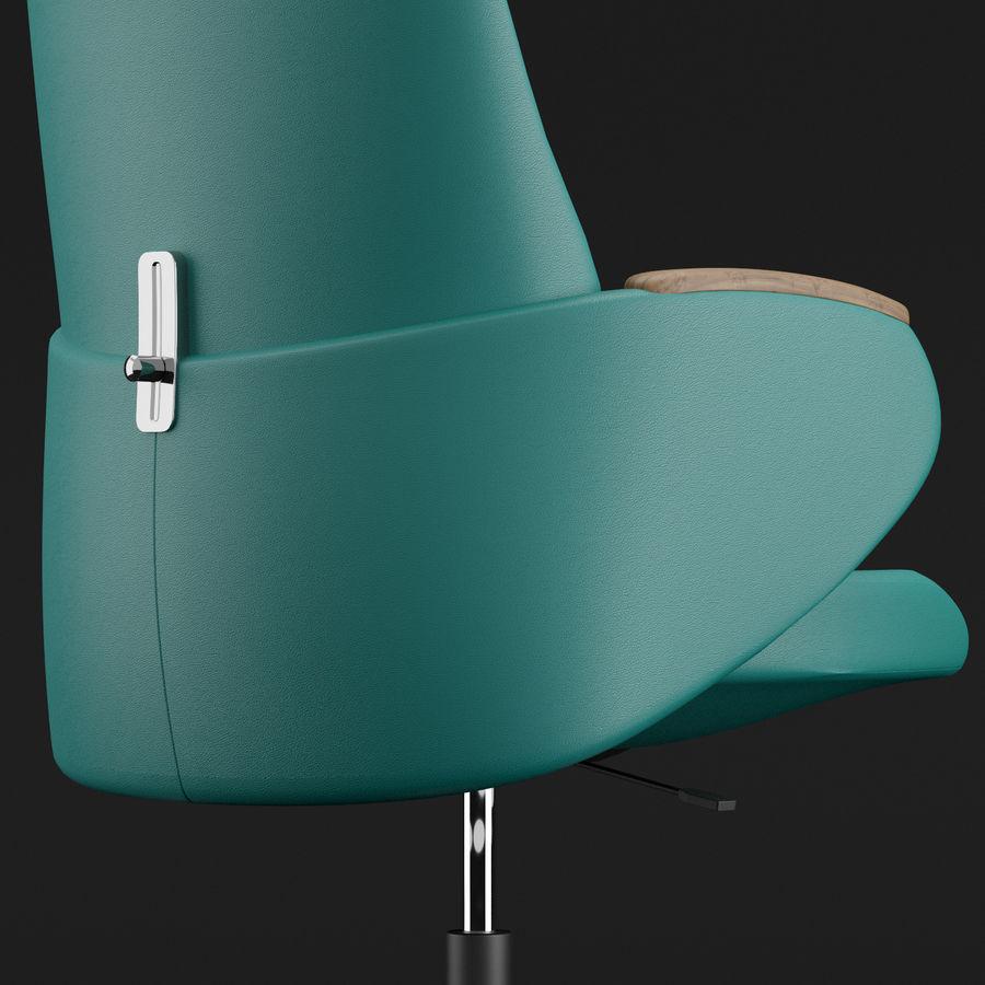 Nowoczesne skórzane krzesło biurowe 2 royalty-free 3d model - Preview no. 15