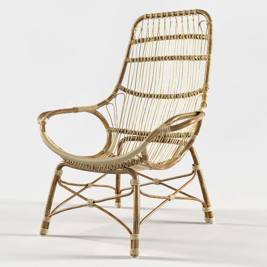 Retro Rattan High Back Lounge Chair By Palecek 3d Model 3d Model 24 Fbx Max Obj Free3d