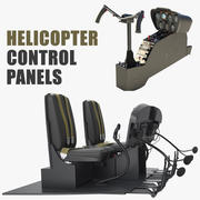 Helicopter Control Panels 3D Models Collection 3d model