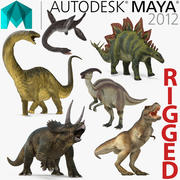 Rigged Dinosaurs Collection for Maya 3d model