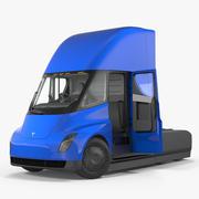 Tesla Semi Truck Rigged 3D Model 3d model