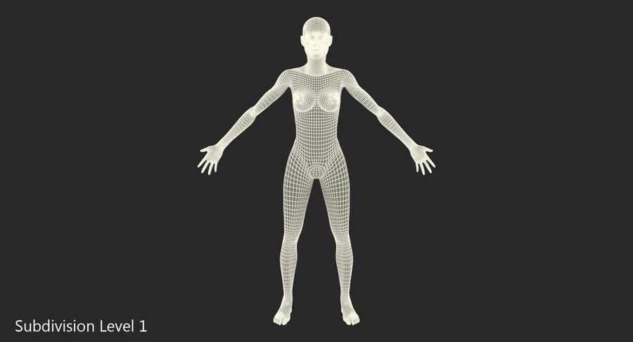Anatomie du système musculaire féminin royalty-free 3d model - Preview no. 13