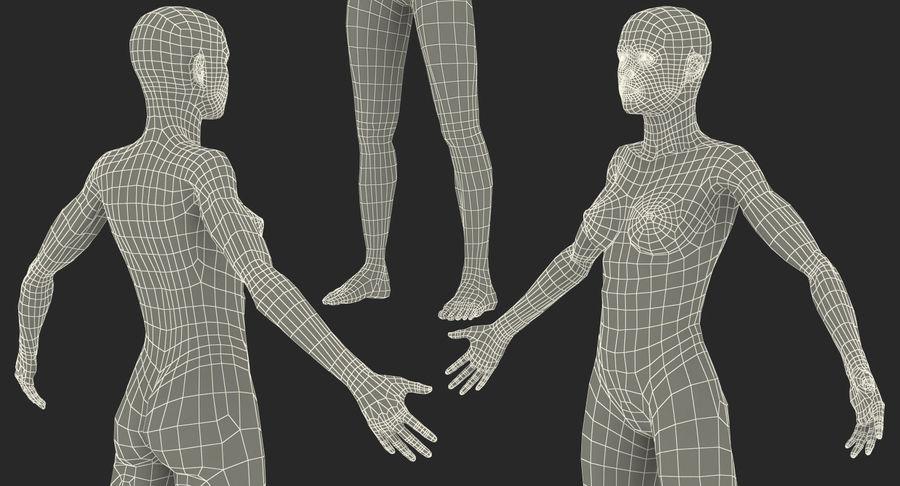 Anatomie du système musculaire féminin royalty-free 3d model - Preview no. 20