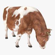 Postura de comer vaca Holstein modelo 3D modelo 3d