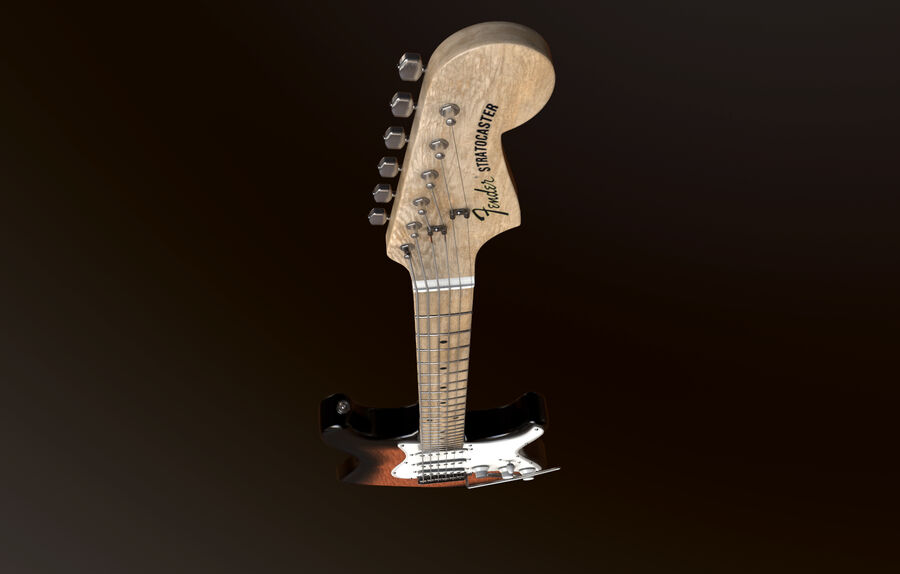 Fender Stratocaster (팬) royalty-free 3d model - Preview no. 2