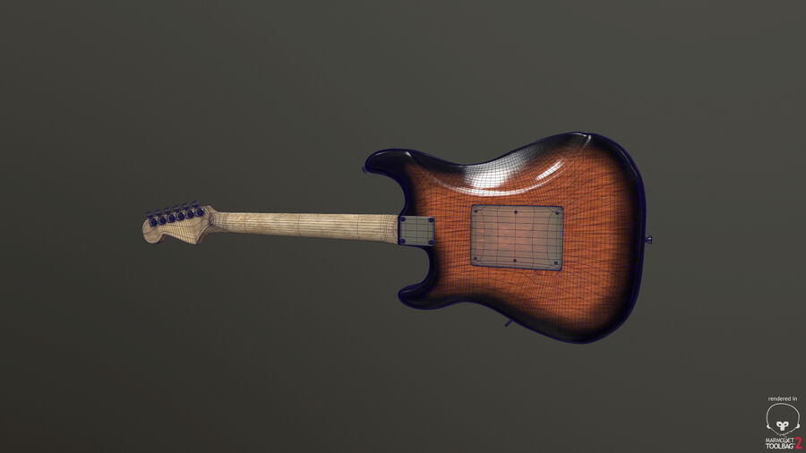 Fender Stratocaster (팬) royalty-free 3d model - Preview no. 6