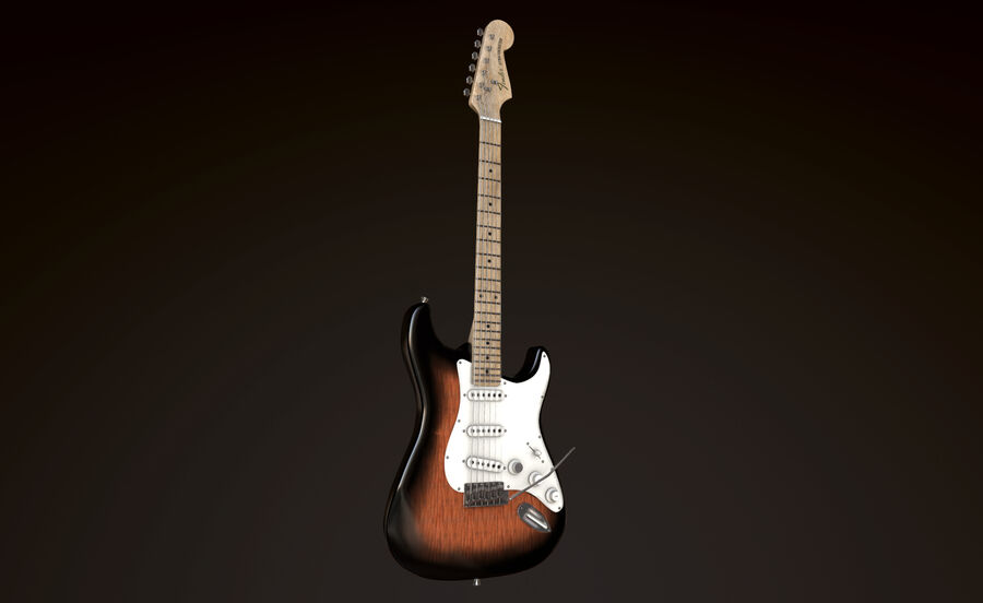 Fender Stratocaster (팬) royalty-free 3d model - Preview no. 1