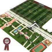 都市公園 3d model