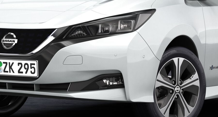 2018 Nissan Leaf royalty-free 3d model - Preview no. 8