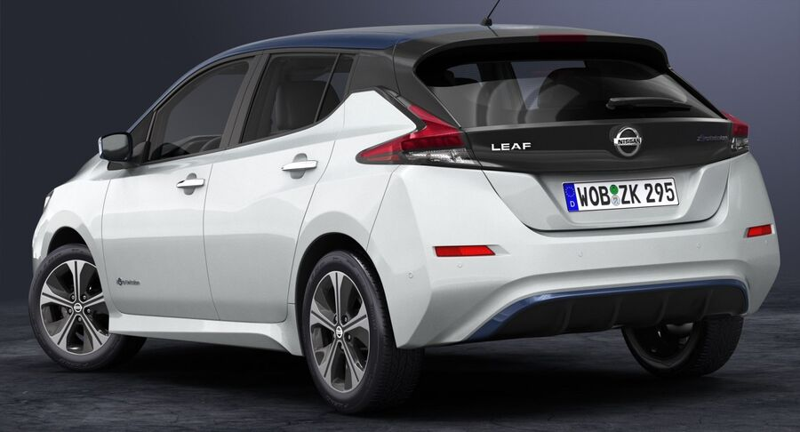 2018 Nissan Leaf royalty-free 3d model - Preview no. 4