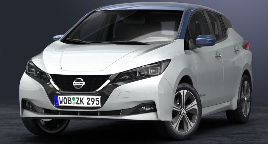 2018 Nissan Leaf royalty-free 3d model - Preview no. 5