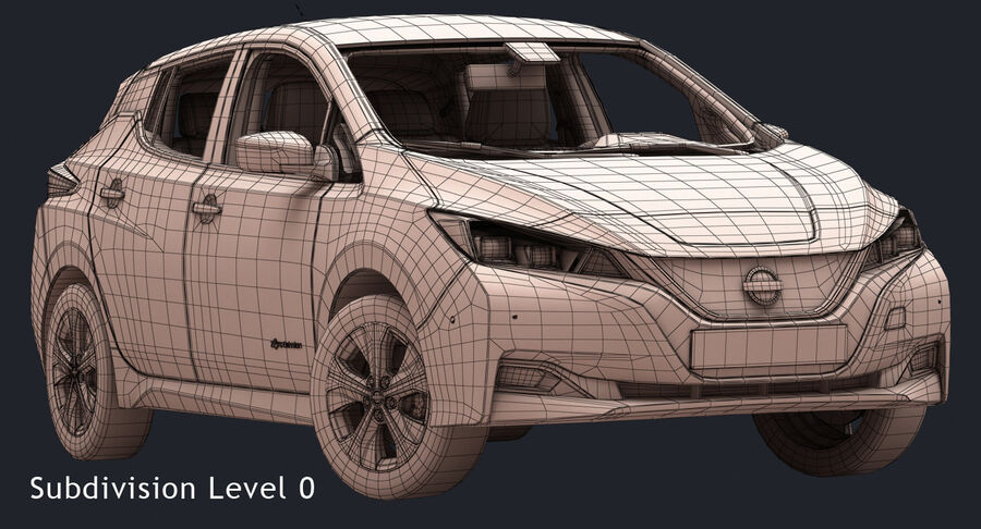 2018 Nissan Leaf royalty-free 3d model - Preview no. 16