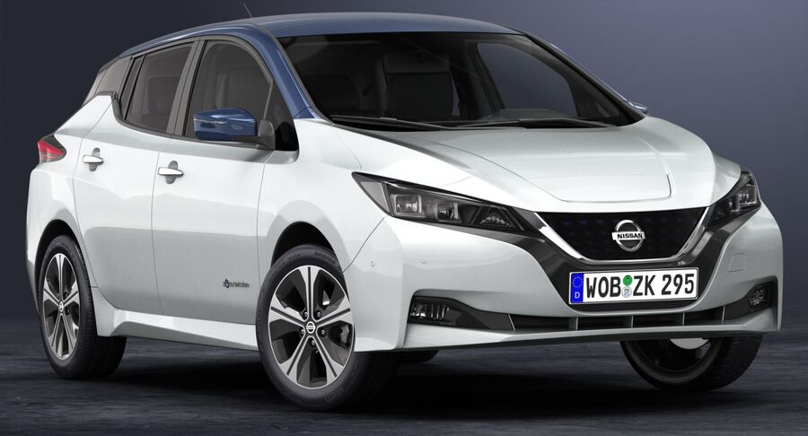 2018 Nissan Leaf royalty-free 3d model - Preview no. 3