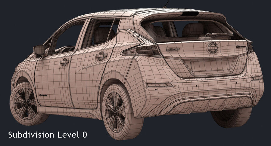 2018 Nissan Leaf royalty-free 3d model - Preview no. 17