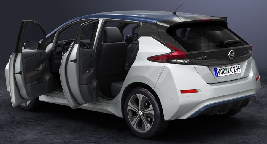 2018 Nissan Leaf royalty-free 3d model - Preview no. 10