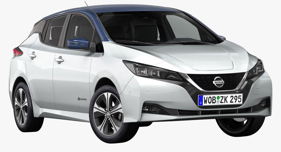 2018 Nissan Leaf royalty-free 3d model - Preview no. 2