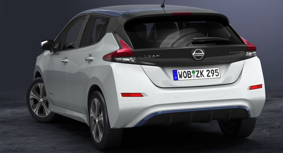 2018 Nissan Leaf royalty-free 3d model - Preview no. 6