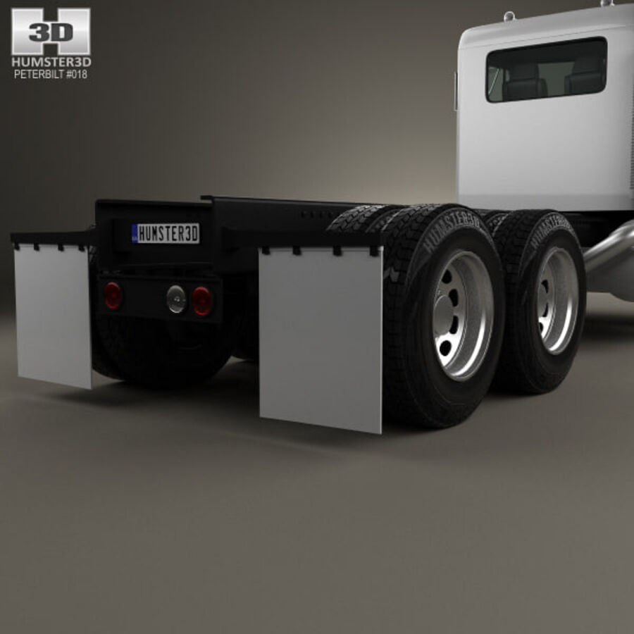 Peterbilt 359 шасси грузовик 1967 royalty-free 3d model - Preview no. 7