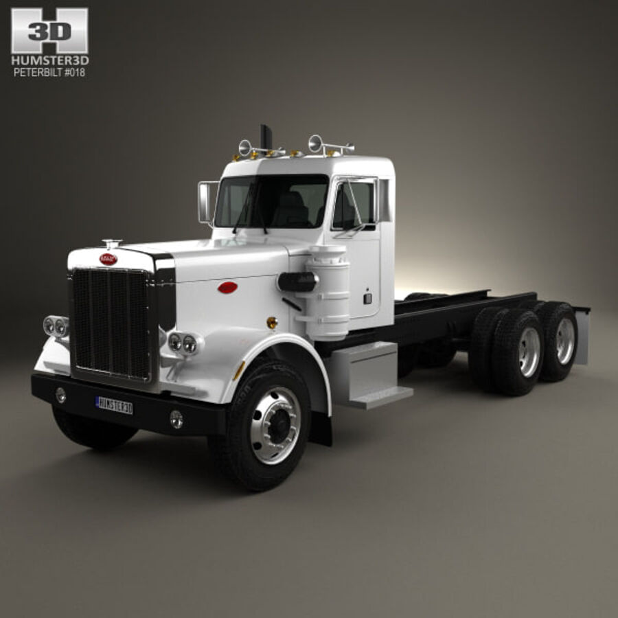 Peterbilt 359 шасси грузовик 1967 royalty-free 3d model - Preview no. 1