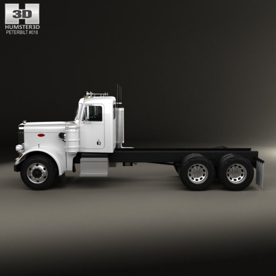 Peterbilt 359 шасси грузовик 1967 royalty-free 3d model - Preview no. 5
