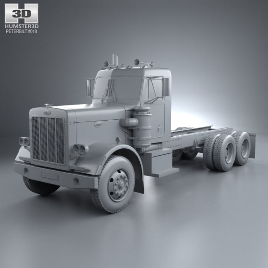 Peterbilt 359 шасси грузовик 1967 royalty-free 3d model - Preview no. 11