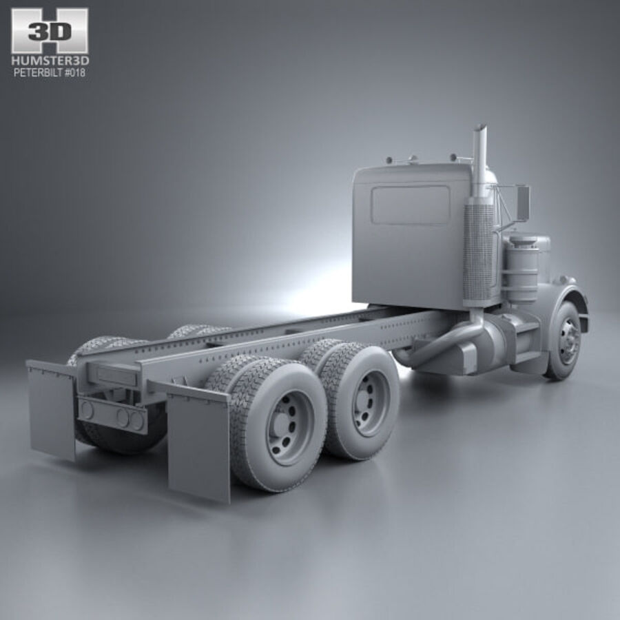 Peterbilt 359 шасси грузовик 1967 royalty-free 3d model - Preview no. 12