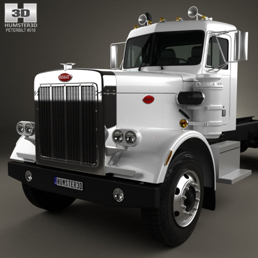 Peterbilt 359 шасси грузовик 1967 royalty-free 3d model - Preview no. 6