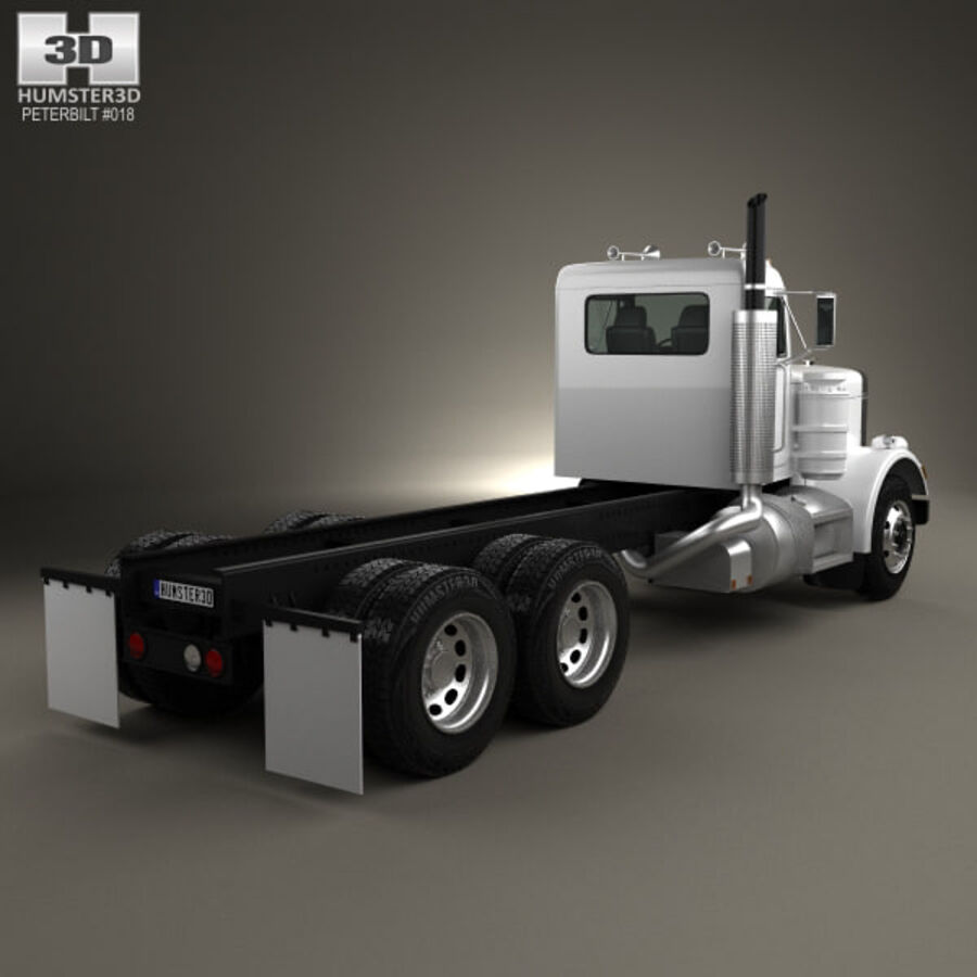 Peterbilt 359 шасси грузовик 1967 royalty-free 3d model - Preview no. 2