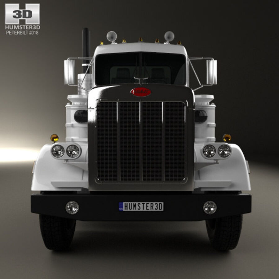 Peterbilt 359 шасси грузовик 1967 royalty-free 3d model - Preview no. 10
