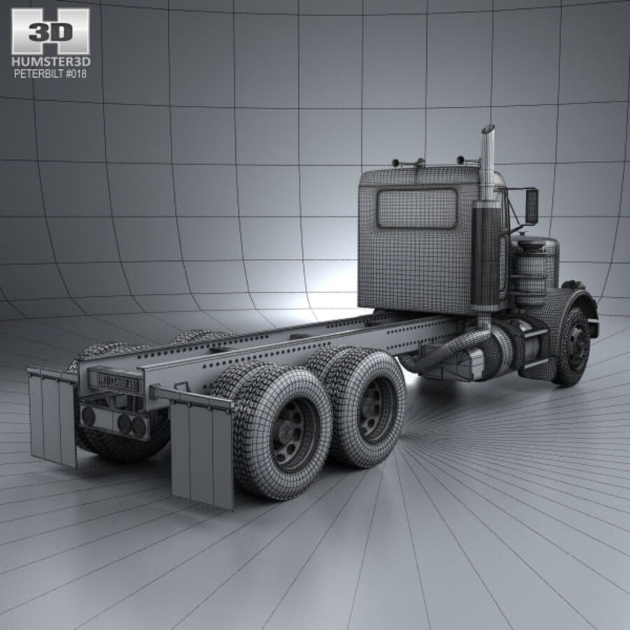 Peterbilt 359 шасси грузовик 1967 royalty-free 3d model - Preview no. 4