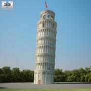 Krzywa wieża w Pizie 3d model