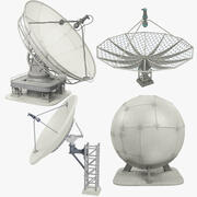 Satellite Dishes Set V2 3d model