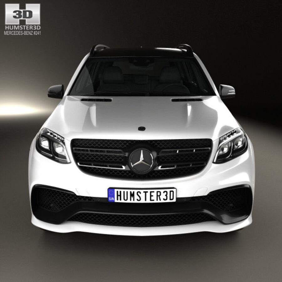 Mercedes-Benz GLS-Class AMG 2015 royalty-free 3d model - Preview no. 10