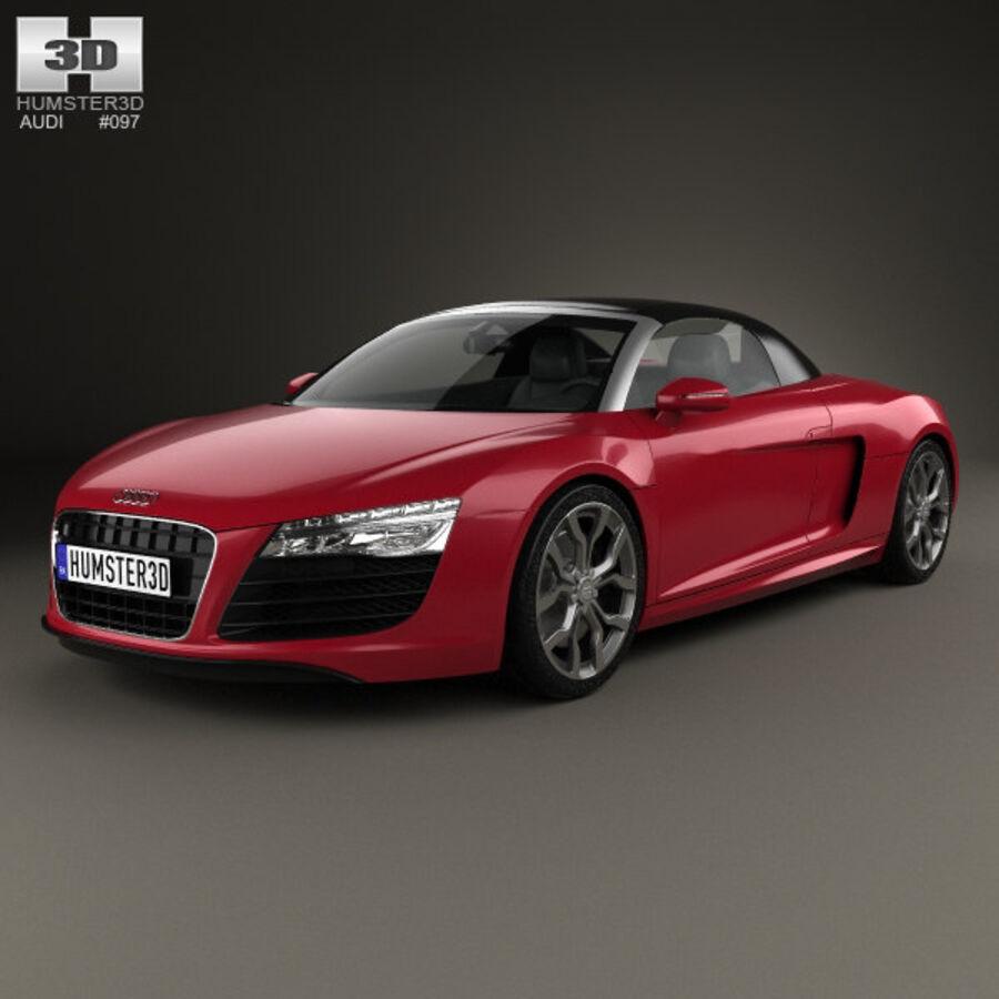 Audi R8 Spyder 2013 royalty-free 3d model - Preview no. 1