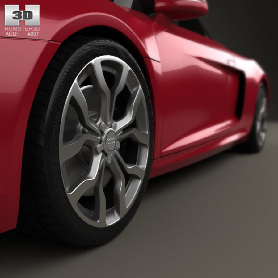 Audi R8 Spyder 2013 royalty-free 3d model - Preview no. 8