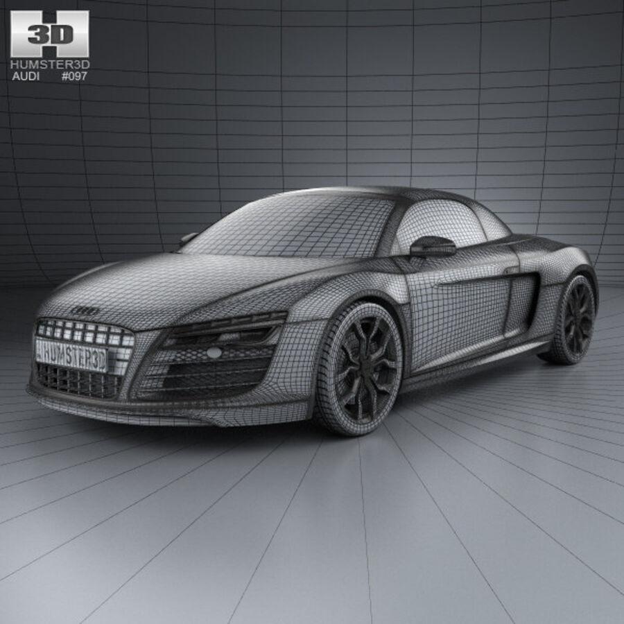 Audi R8 Spyder 2013 royalty-free 3d model - Preview no. 3