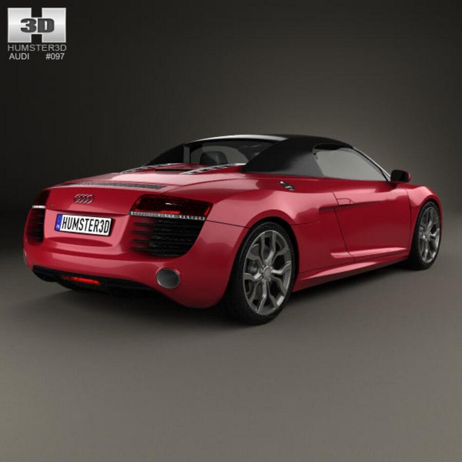 Audi R8 Spyder 2013 royalty-free 3d model - Preview no. 2