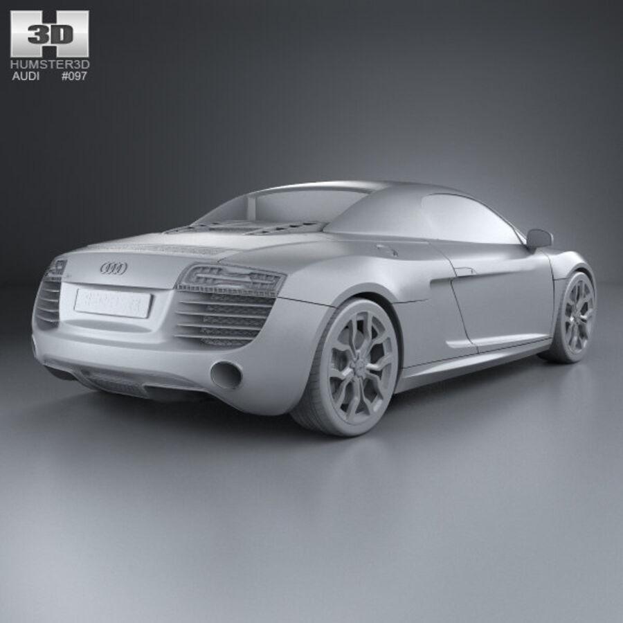 Audi R8 Spyder 2013 royalty-free 3d model - Preview no. 12