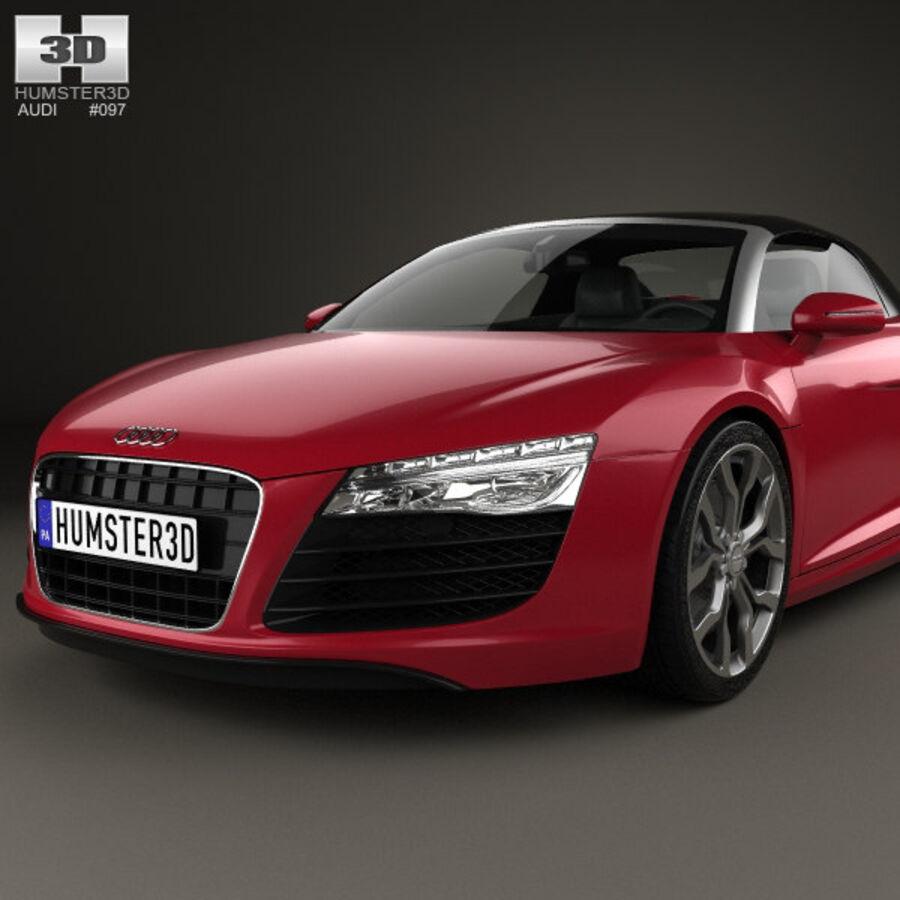 Audi R8 Spyder 2013 royalty-free 3d model - Preview no. 6