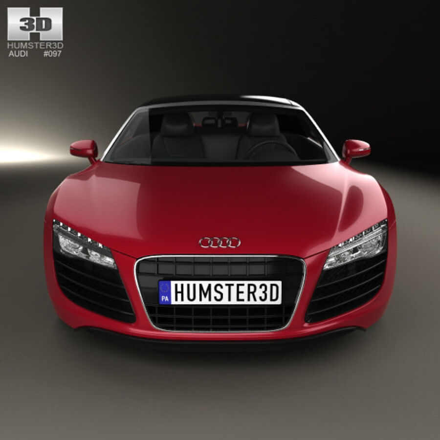 Audi R8 Spyder 2013 royalty-free 3d model - Preview no. 10