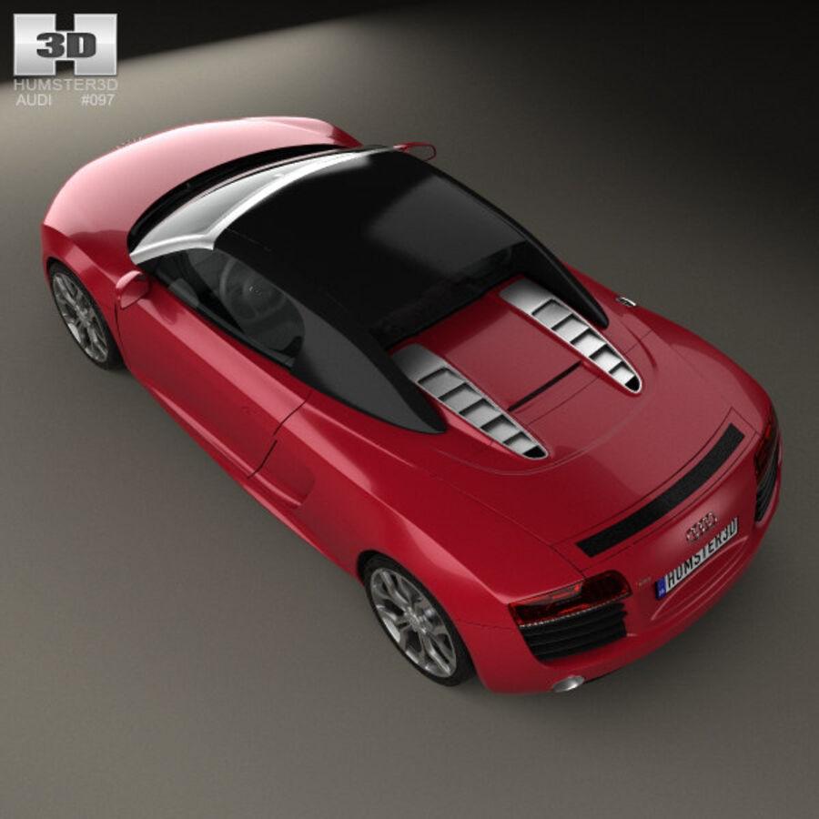 Audi R8 Spyder 2013 royalty-free 3d model - Preview no. 9