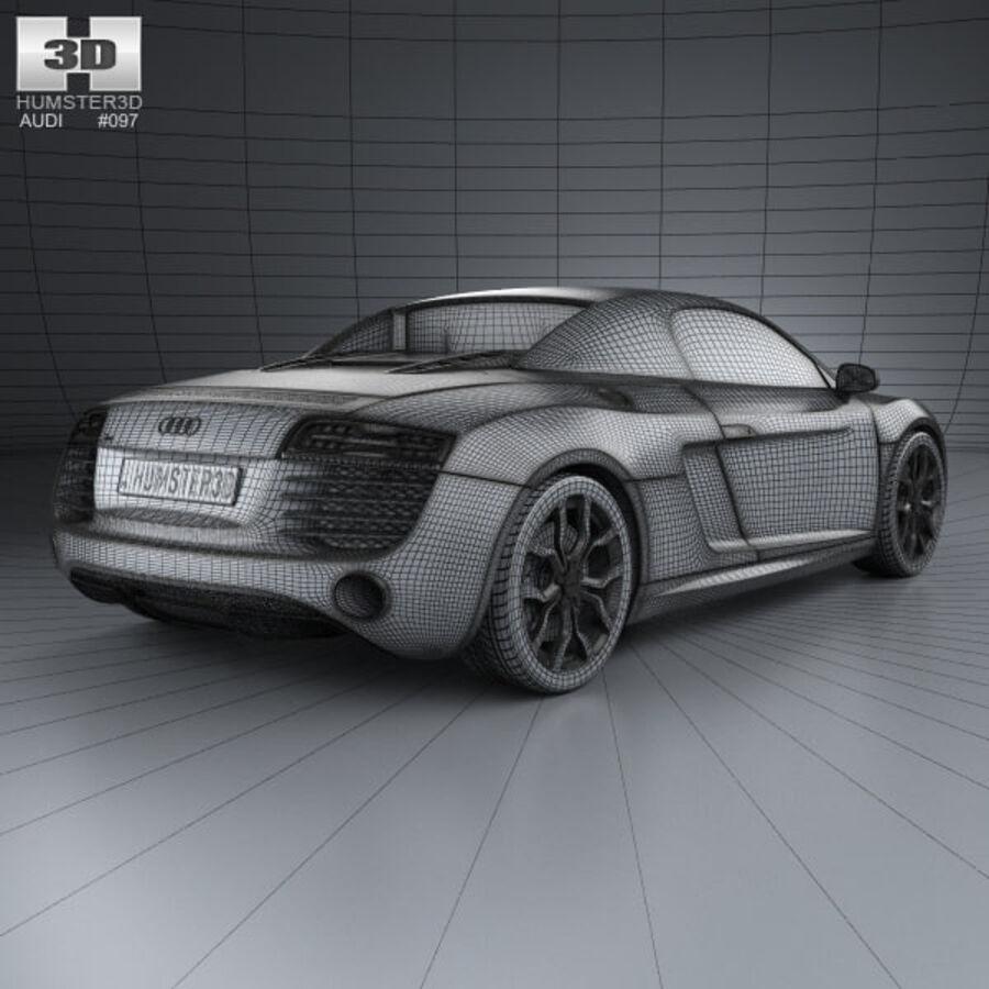 Audi R8 Spyder 2013 royalty-free 3d model - Preview no. 4
