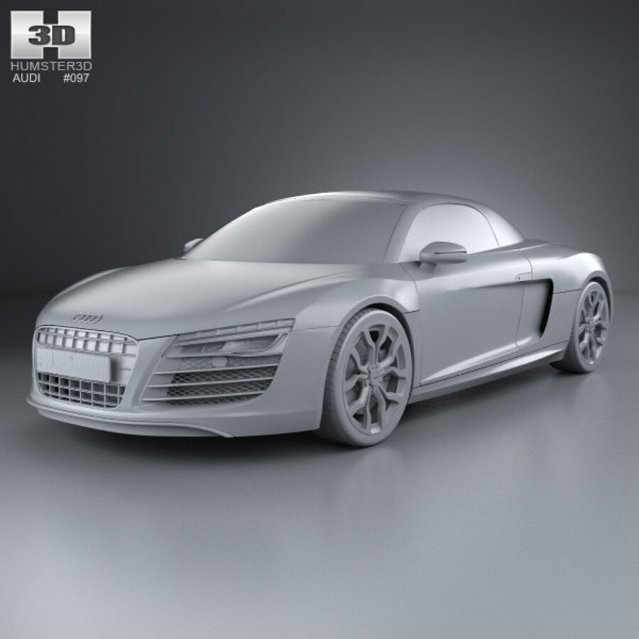 Audi R8 Spyder 2013 royalty-free 3d model - Preview no. 11