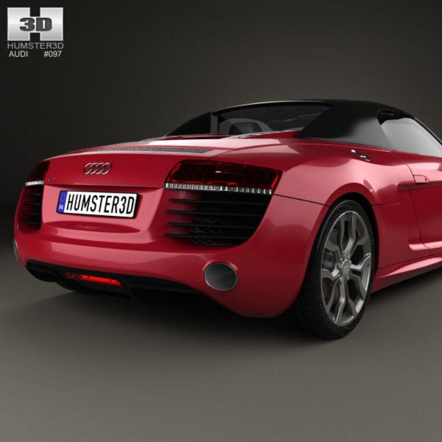 Audi R8 Spyder 2013 royalty-free 3d model - Preview no. 7