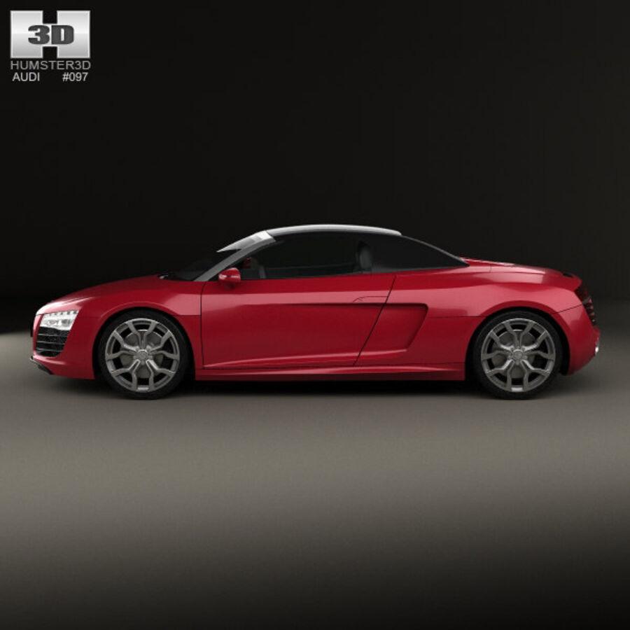 Audi R8 Spyder 2013 royalty-free 3d model - Preview no. 5