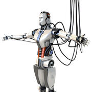 Man cyborg robot 3d model