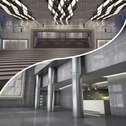 2 i 1 Hall och Lobby 3d model